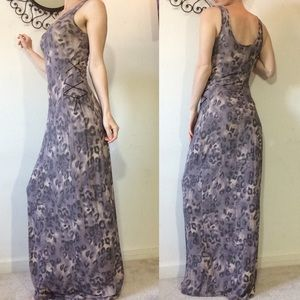 Guess Dresses - Cheetah print lace up suede maxi dress